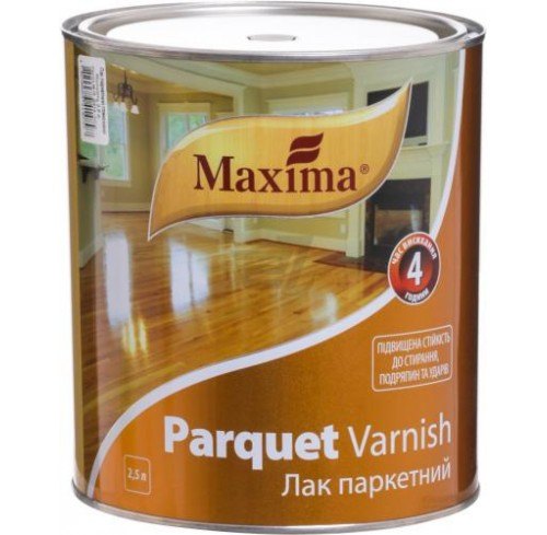 Лак паркетний Maxima 2.5 глянцевий