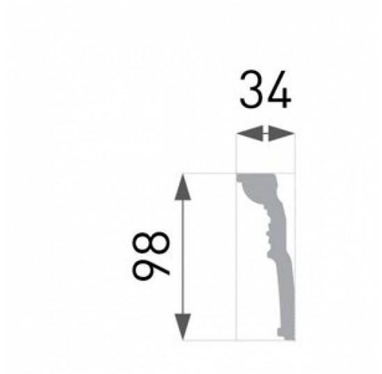 Плінтус для стелі B-52