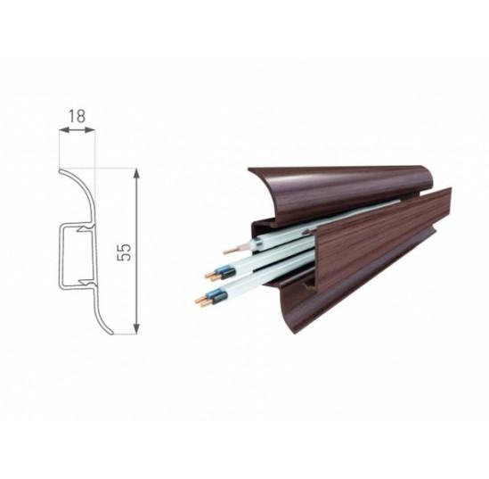 Плінтус для підлоги LI1 ELASTIC дуб рустикальний