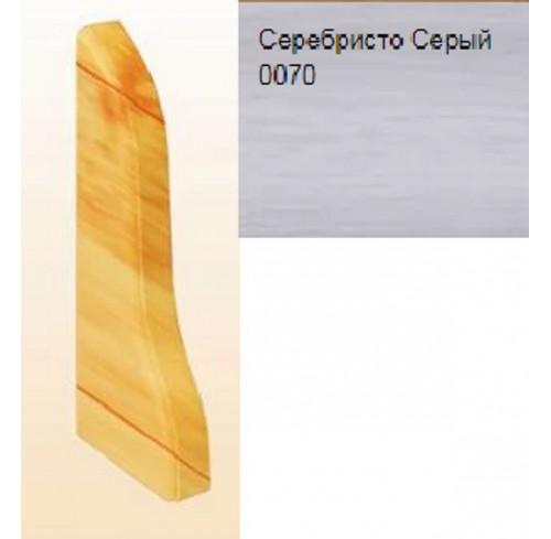 Плінтус для підлоги Теко стандарт Срібно сірий 2,5м