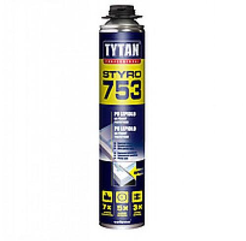 Піна-клей монтажний 750мл Tytan 02 Styro 753 проф.