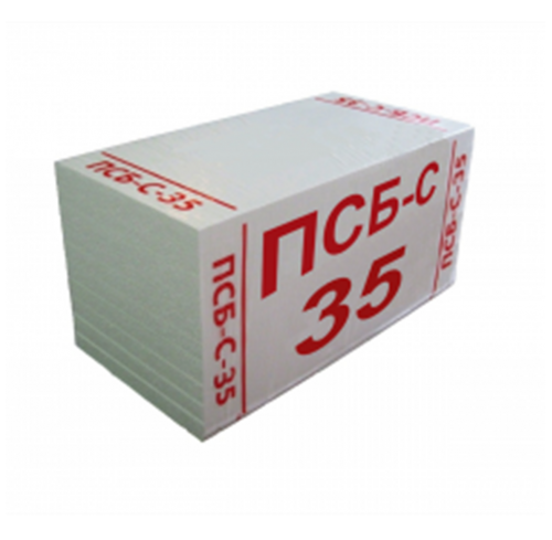 Пінопласт ПСБ 35 (1,0*0,5*0,02)