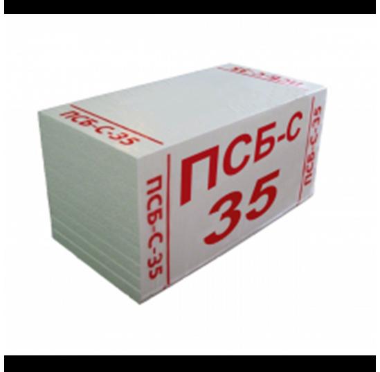 Пінопласт ПСБ 35 (1,0*0,5*0,04)