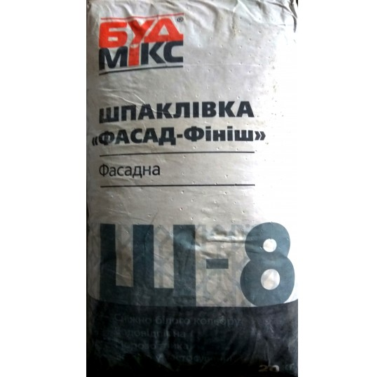 Будмікс Ш-8/20кг шпаклівка фасадна фініш супербіла