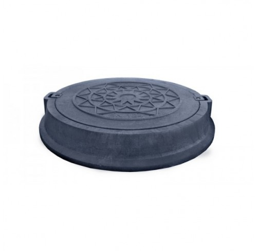 Люк каналізаційний полімерпіщаний 25т чорний