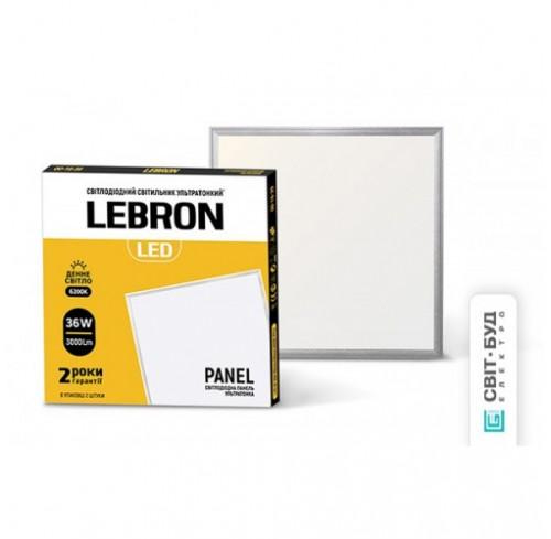 Світильник панель LED Lebron L-PS-UP 36W 595*595mm 6200K кут120