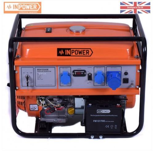 Генератор бензиновий InPower BSV5500Е 5/5.5 кВт