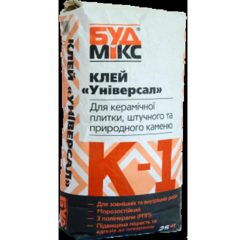 Будмікс К-1/25 кг клей для плитки універсальний