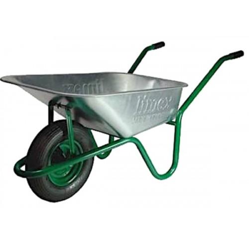 Тачка буд. 90/160л Limex зелена каучук